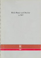 1987 Rolls-Royce and Bentley Factoy Supplement