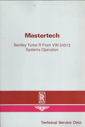 Bentley Turbo R Systems Operation Technical Service Data Manual