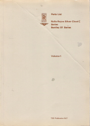 Rolls Royce Silver Cloud I Printed Parts List, 2 Volume Set