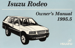1995.5 Isuzu Rodeo Owner's Manual