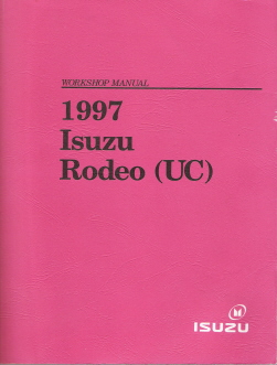 1997 Isuzu Rodeo (UC) Factory Workshop Manual