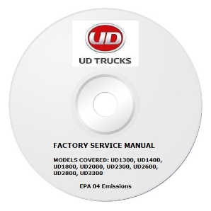 2005 - 2007 UD UD1300 thru UD3300 Truck Factory Service Repair Manual on CD-ROM