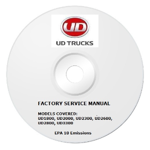 2011 - 2013 UD UD1800 thru UD3300 Truck Factory Service Repair Manual on CD-ROM