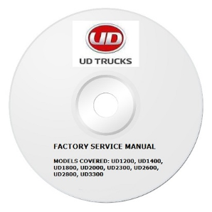 1999 - 2004 UD UD1200 thru UD3300 Truck Factory Service Repair Manual on CD-ROM