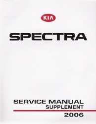 2006 Kia Spectra Factory Service Manual Supplement