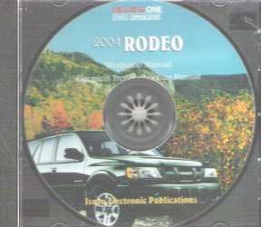 2004 Isuzu Rodeo Factory Service & Electrical Troubleshooting CD-ROM