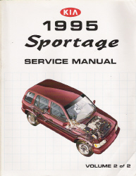 1995 Kia Sportage Factory Service Manual - 2 Volume Set