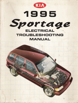 1995 Kia Sportage Factory Electrical Troubleshooting Manual