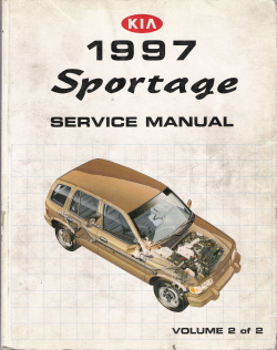1997 Kia Sportage Factory Service Manual, Volume 2