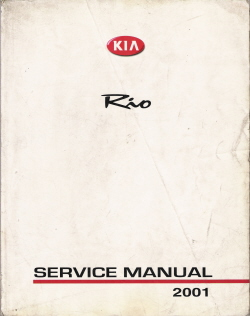 2001 Kia Rio Factory Service Manual