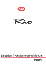 2001 Kia Rio Factory Electrical Troubleshooting Manual