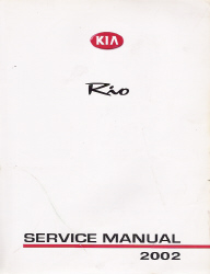 2002 Kia Rio Factory Service Manual