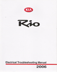 2006 Kia Rio Factory Electrical Troubleshooting Manual