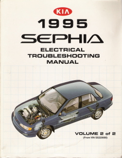1995 Kia Sephia Factory Electrical Troubleshooting Manual - Vol. 2 - VIN S5220000 - Up