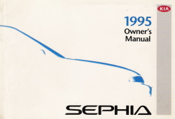 1995 Kia Sephia Owner's Manual