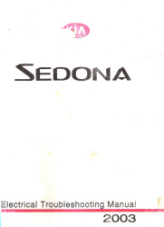 2003 Kia Sedona Factory Electrical Troubleshooting Manual
