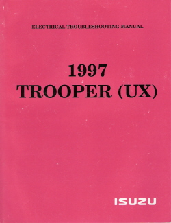 1997 Isuzu Trooper Electrical Troubleshooting Factory Manual