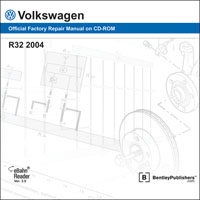 2004 Volkswagen R32 Official Factory Repair Manual on CD-ROM