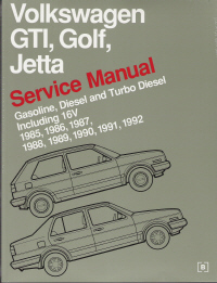 1985 - 1992 Volkswagen Original Factory Repair Manual GTI, Golf, Jetta (Gasoline, Diesel & Turbo Diesel, including 16V)