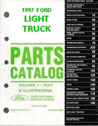 1997 Complete Parts Catalog for Ford Light Trucks (Multiple Volumes)