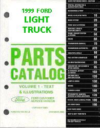 1999 Complete Parts Catalog for Ford Light Trucks (Multiple Volumes)
