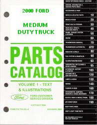 2000 Complete Parts Catalog for Ford Medium Duty Trucks (Multiple Volumes)