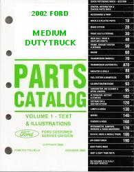 2002 Complete Parts Catalog for Ford Medium Duty Trucks (Multiple Volumes)