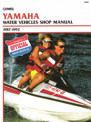 1987 - 1992 Yamaha Jet Ski and Water Vehicles Shop Manual