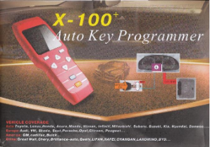 X100+ Auto Key Programmer for Domestic, Euro & Asian Vehicles
