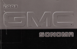 2003 GMC Sonoma Truck Owner's Manual