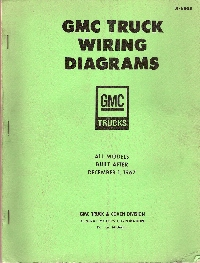 1967 - 1968 GMC Truck All Models Built After December 1, 1967 - Wiring Diagrams