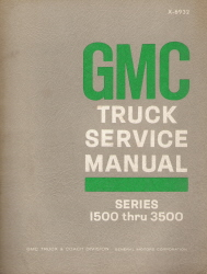 1970 GMC Truck Service Manual Series 1500 thru 3500
