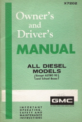 1972 GMC All Diesel Models Owner's and Driver's Manuals