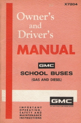 1972 GMC School Buses Owner's and Driver's Manual