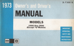 1973 GMC Models 1500 thru 3500 Owner's and Driver's Manual