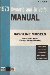 1973 GMC Gasoline Models 5000 thru 8500 Owner's and Driver's Manual