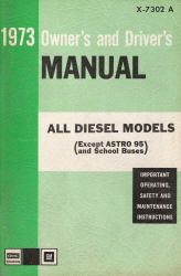 1973 GMC All Diesel Models Owner's and Driver's Manual