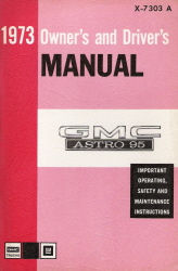 1973 GMC Astro 95 Owner's and Driver's Manual