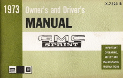 1973 GMC Sprint Owner's and Driver's Manual