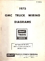 1975 GMC Truck Wiring Diagrams Supplement