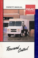 1989 GMC Forward Control Truck Owner's Manual