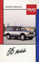 1989 GMC S-15 Owner's Manuals
