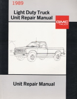 1989 GMC Light Duty Truck Unit Repair Manual