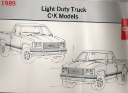 1989 GMC Light Duty Trucks C/K Models - Electrical Diagnosis and Wiring Diagrams Manual