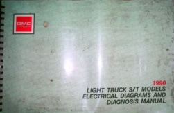1990 Chevrolet & GMC Light Duty S/T Trucks:  S-10, S-15, Sonoma, S-10 Blazer & S-15 Jimmy Factory Wiring Diagrams Manual