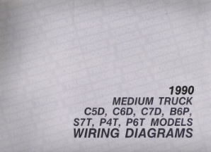 1990 GMC Medium Truck C5D, C6D, C7D, B6P, S7T, P4T, P6T Models Factory Wiring Diagrams