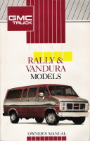 1991 GMC Rally & Vandura Models Owner's Manual