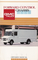 1991 GMC Forward Control Chassis Owner's Manual