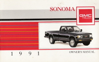 1991 GMC Sonoma Owner's Manual