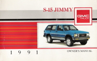1991 GMC S-15 Jimmy Owner's Manual